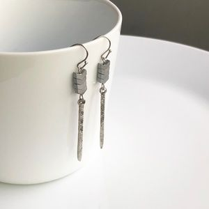 "Jewelry - NEW ""Lagertha"" Stone Earrings (silver)"